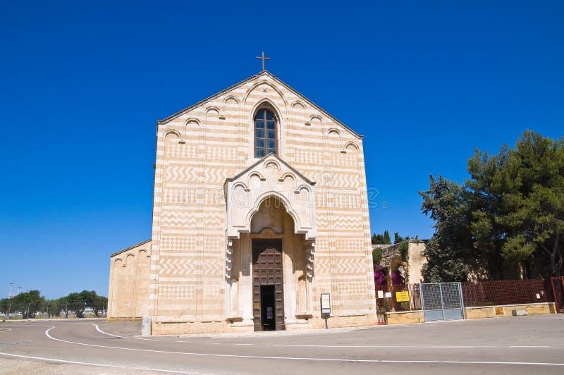 Церковь St Марии del Casale Бриндизи Апулия Италия стоковая фотография