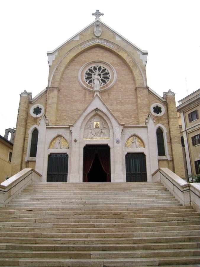 Церковь St Alphonsus Liguori, Рима, Италии стоковые фотографии rf