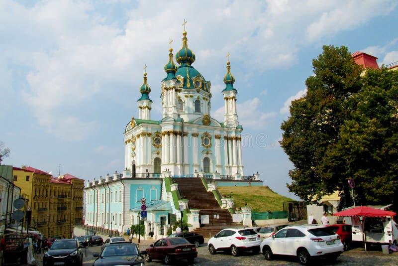 Церковь St Andrew в Киеве, Украине стоковое изображение