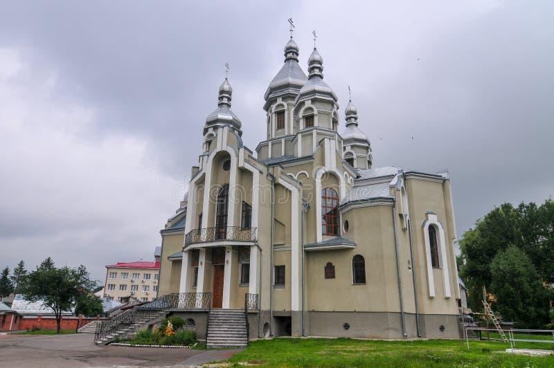 Церковь St Andrew - Drohobych, Украина стоковое изображение rf