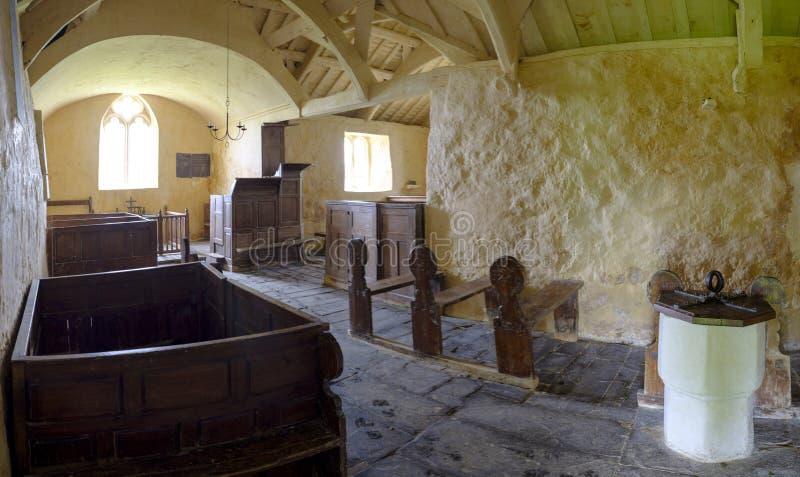 Церковь St Baglan, Llanfaglan стоковое фото rf