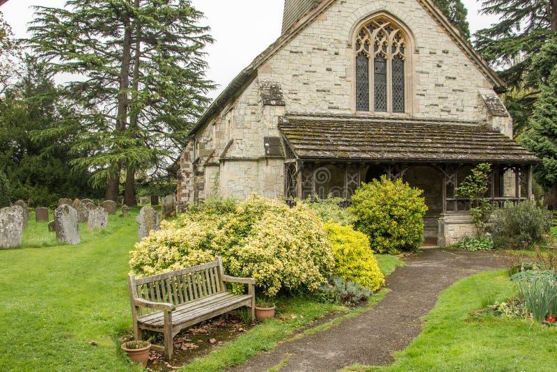 Церковь St Bartholomew в Leigh Суррей стоковые фото