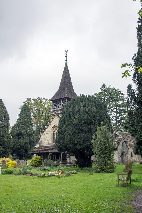 Церковь St Bartholomew в Leigh Суррей стоковое изображение