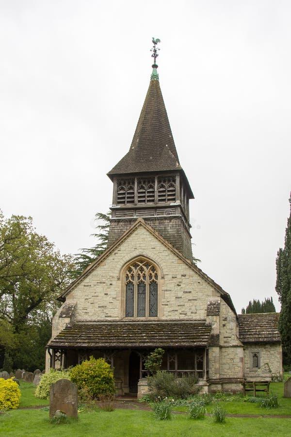Церковь St Bartholomew в Leigh Суррей стоковое фото rf