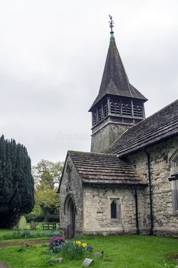 Церковь St Bartholomew в Leigh Surry стоковое фото