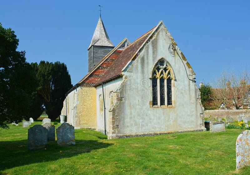 Церковь St Bartholomew, Chalvington, восточное Сассекс Великобритания стоковые фотографии rf