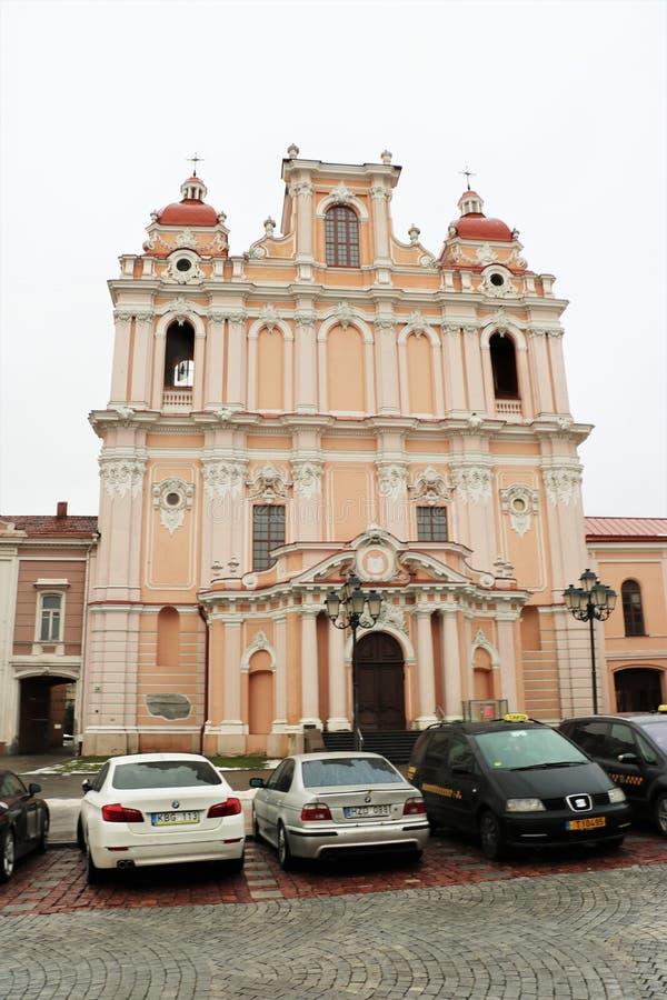 Церковь St Casimir, Вильнюса, Литвы стоковое фото rf