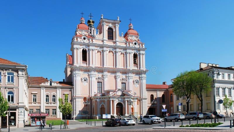 Церковь St. Casimir в Вильнюсе - столице Литвы стоковая фотография