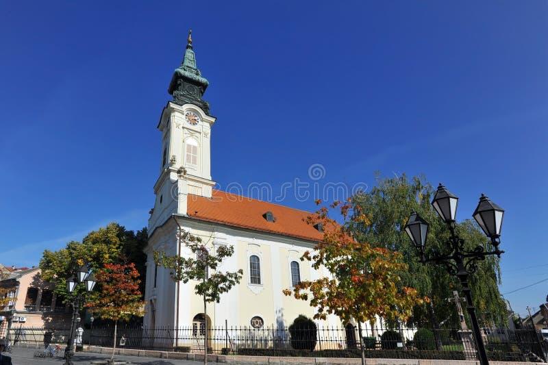 Церковь St Georg в Sombor, Сербии стоковые изображения