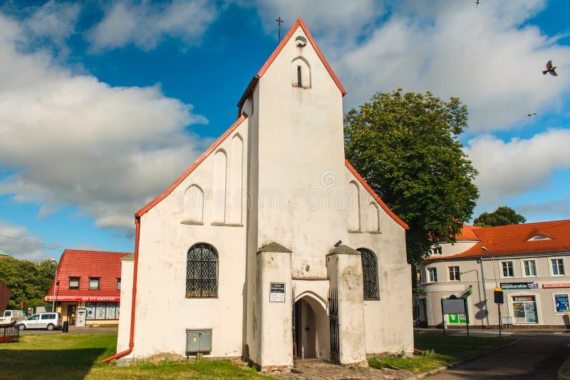 Церковь St. George в Darłowo стоковое изображение rf