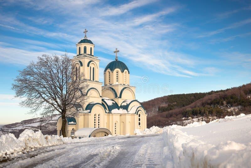 Церковь St. George на горе Rudnik стоковые фотографии rf