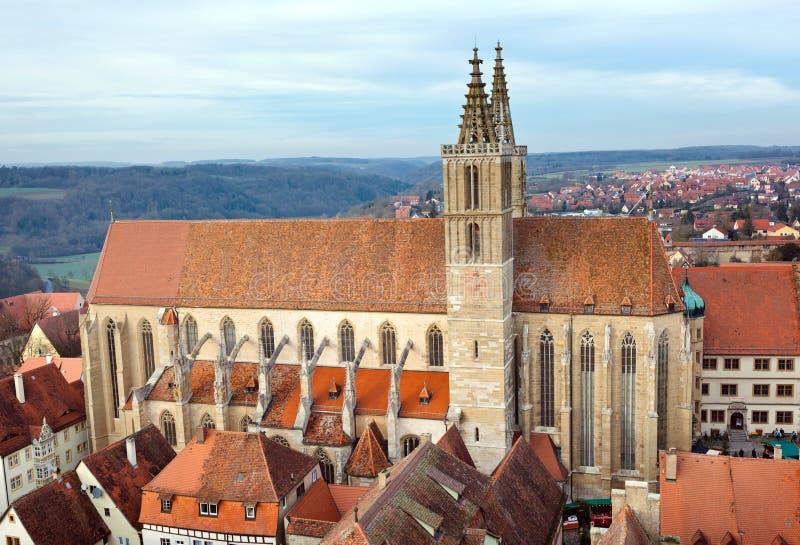 Церковь St James der Tauber ob Ротенбурга стоковая фотография rf