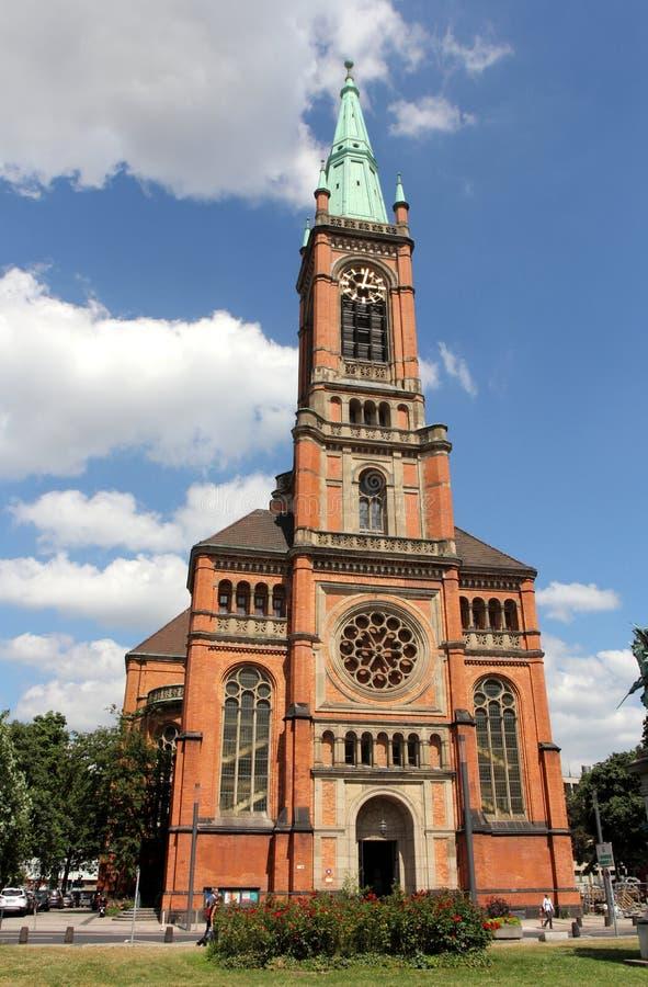 Церковь St. John в Дюссельдорфе стоковая фотография