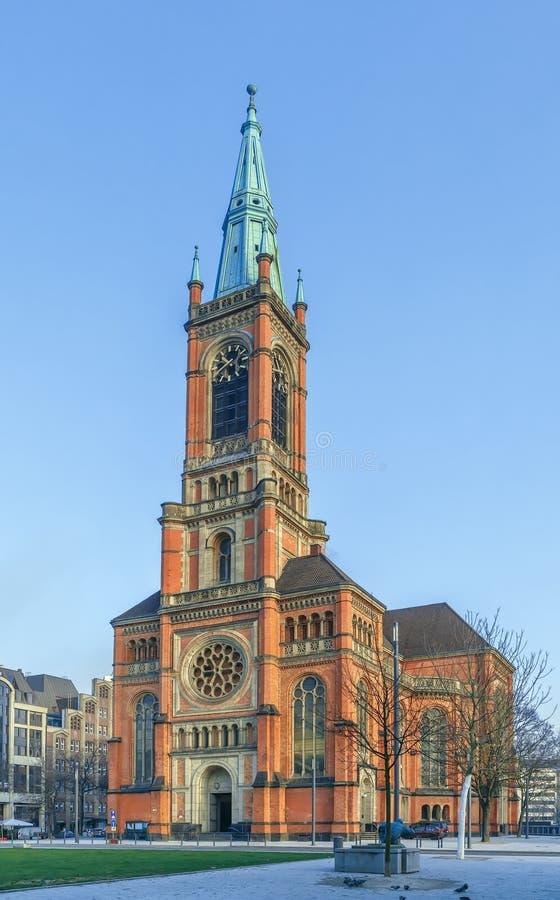 Церковь St. John, Дюссельдорф, Германия стоковое фото rf