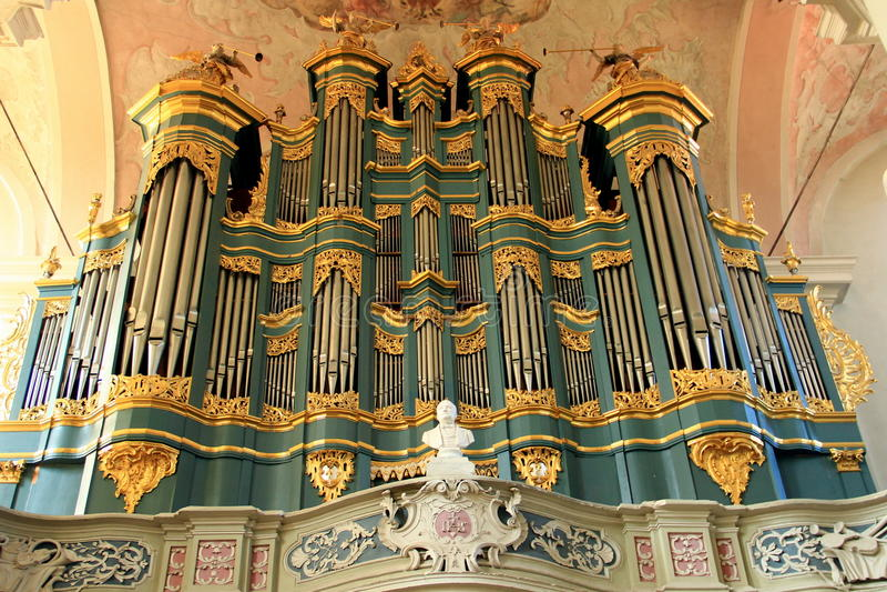 Церковь St. Johns на Вильнюсе Орган стоковая фотография rf