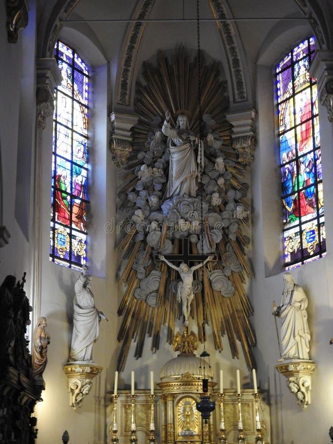 Церковь St Laurentius - Lokeren - Бельгия стоковые изображения rf