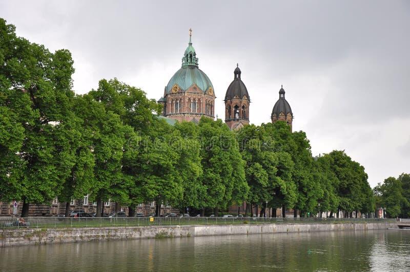 Церковь St Lukas в Мюнхене стоковые фотографии rf