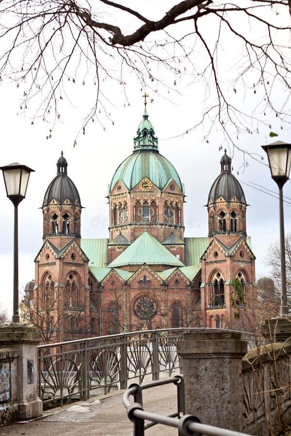 Церковь St Lukas, Мюнхен стоковое фото