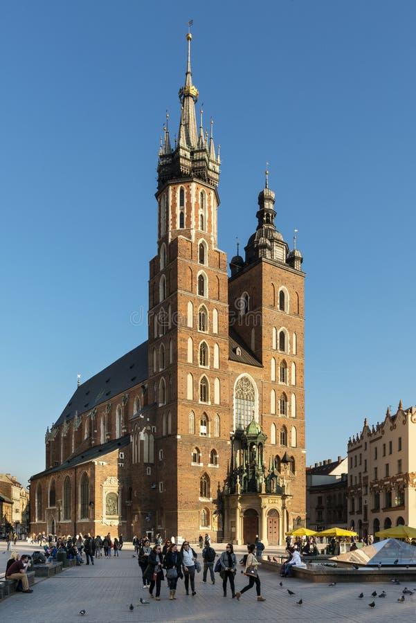 Церковь St Mary в Кракове, меньшая Польша. стоковое фото
