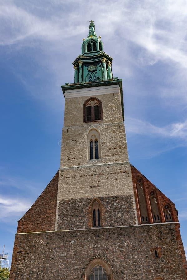 Церковь St Mary лютеранина в Берлине стоковое изображение rf