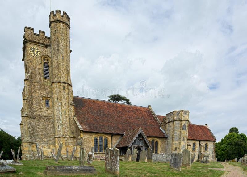 Церковь St Mary, Leigh, Кент r стоковые изображения rf