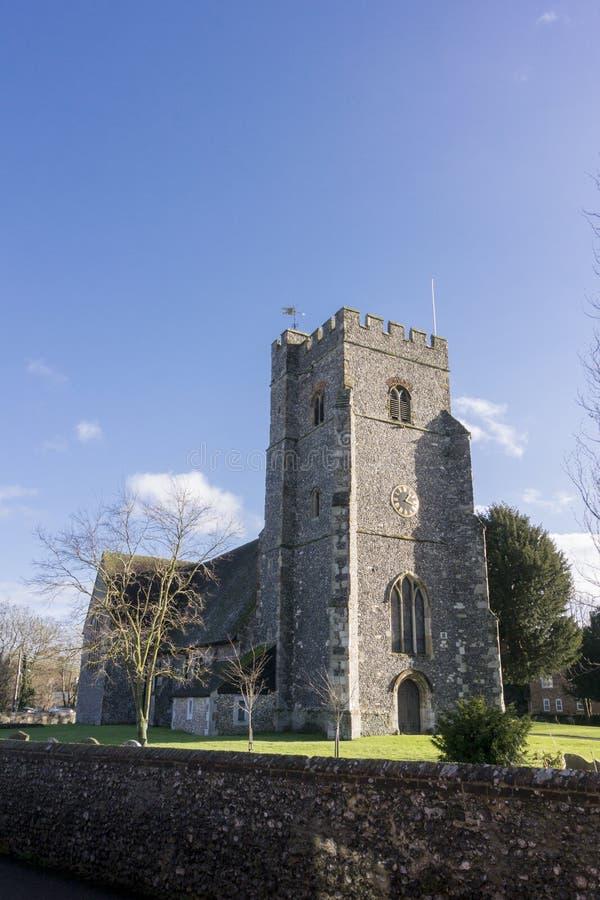 Церковь St Marys, Chartham, Кент стоковое фото rf
