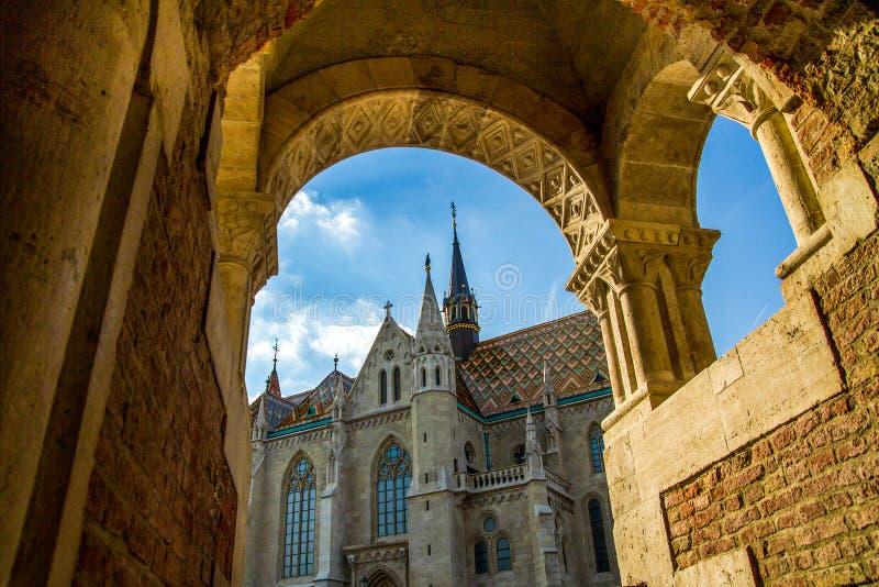 Церковь St Matthias, Будапешт, Венгрия стоковые изображения