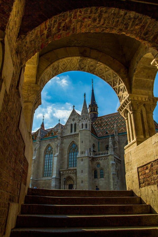 Церковь St Matthias, Будапешт, Венгрия стоковое изображение rf