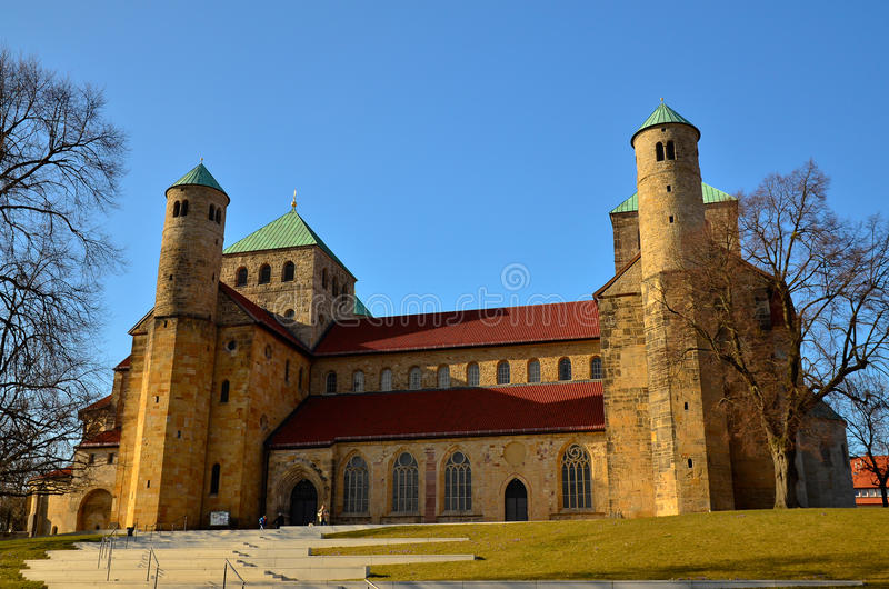 Церковь St Michael, Хильдесхайм стоковые изображения rf
