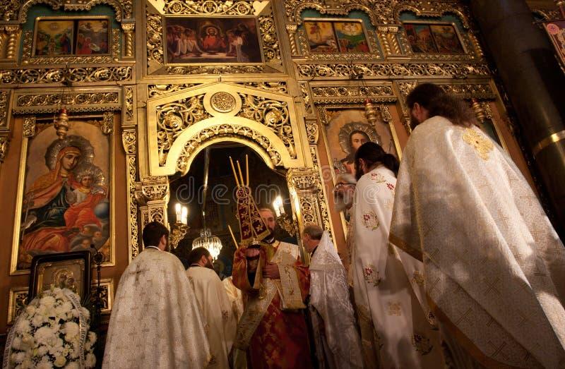 Церковь st Nedelya Liturgy стоковое изображение