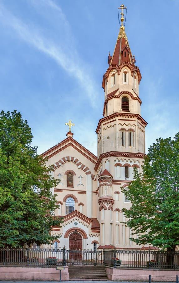 Церковь St Nicholas, Вильнюса, Linuania стоковое фото rf