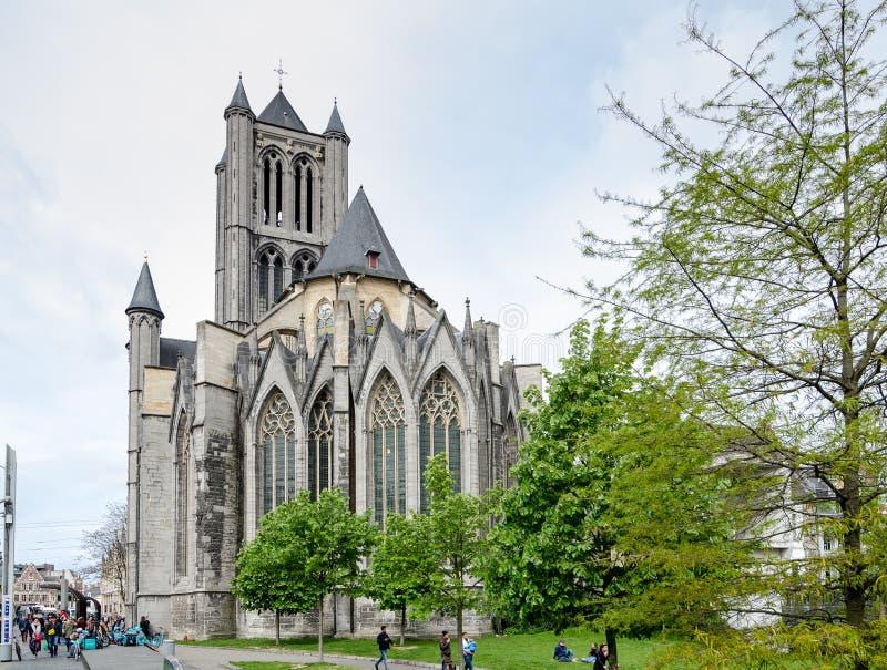 Церковь St Nicholas в Генте, Бельгии стоковое фото rf