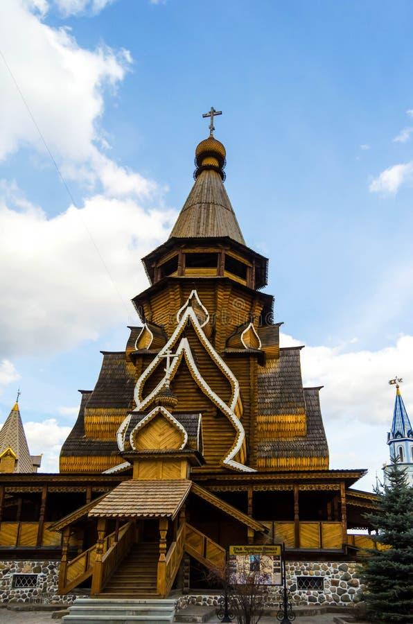 Церковь St Nicholas в Izmailovo Москве стоковые фотографии rf