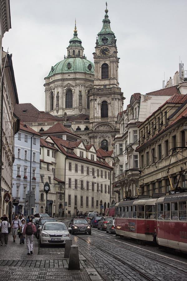 Церковь St Nicholas в Mala Strana стоковые фото