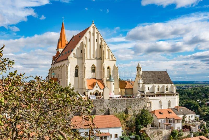 Церковь St Nicholas в Znojmo стоковое изображение rf