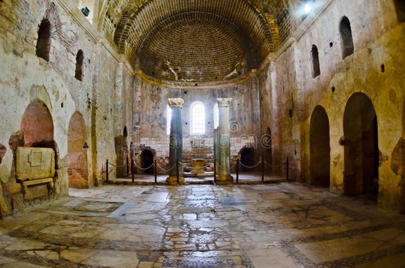 Церковь St Nicholas, Demre. Турция. Myra. Правоверно стоковое изображение rf