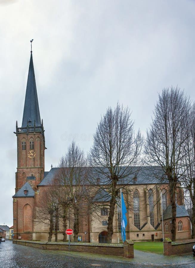 Церковь St Nicholas, Kalkar, Германия стоковая фотография