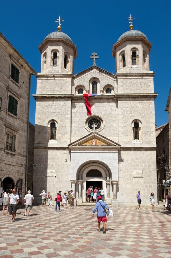 Церковь St Nicholas, Kotor стоковая фотография