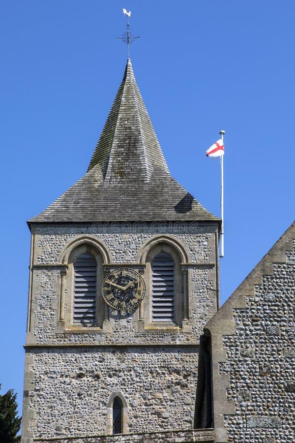 Церковь St Nicolas в Pevensey стоковое изображение