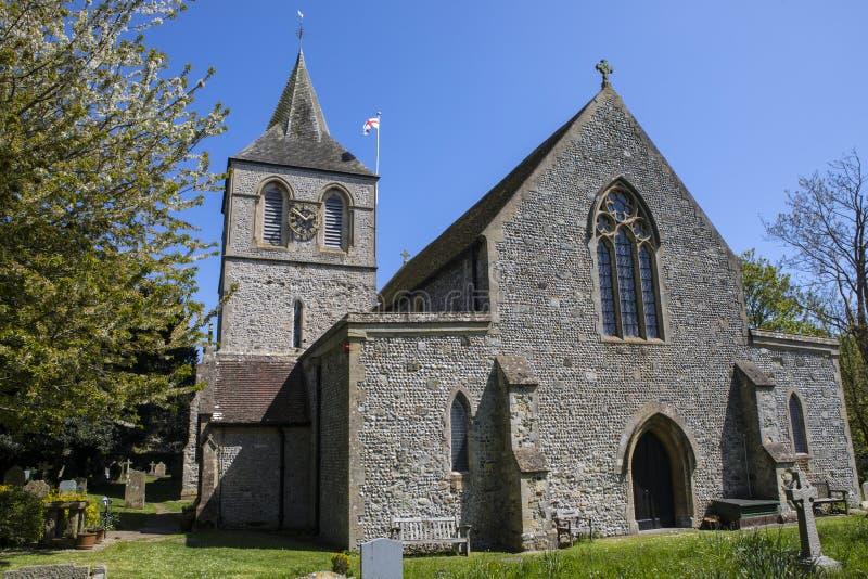 Церковь St Nicolas в Pevensey стоковые фотографии rf