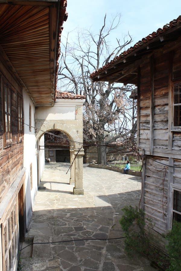 Церковь St Nicolaus в болгарской деревне Zheravna стоковое фото