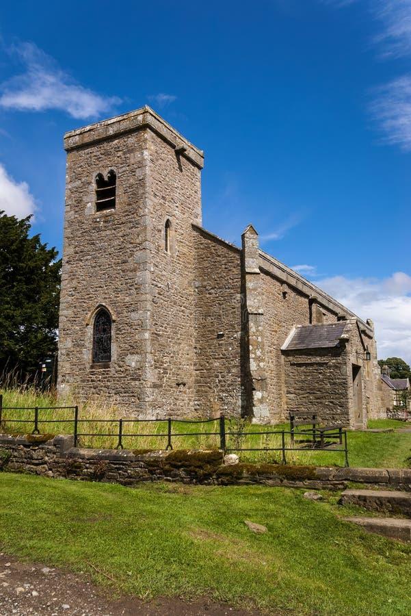 Церковь St Oswald - замок Bolton - участки земли Йоркшира - Великобритания стоковые изображения rf