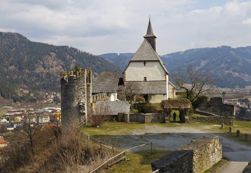 Церковь St Peter Friesach стоковые фото