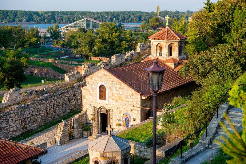 Церковь St Petka на крепости Kalemegdan belgrade Сербия стоковое фото