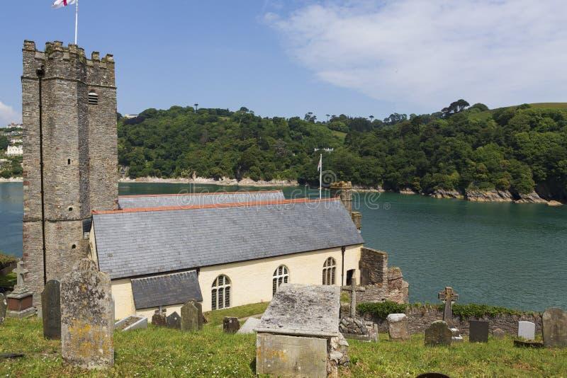 Церковь St Petrox, Dartmouth, Девон, Великобритания стоковое изображение rf