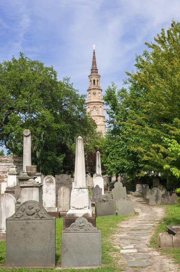 Церковь St Philip в Чарлстоне стоковая фотография rf