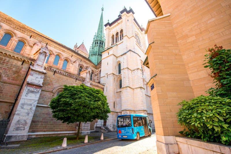 Церковь St Pierre в Женеве стоковые фото