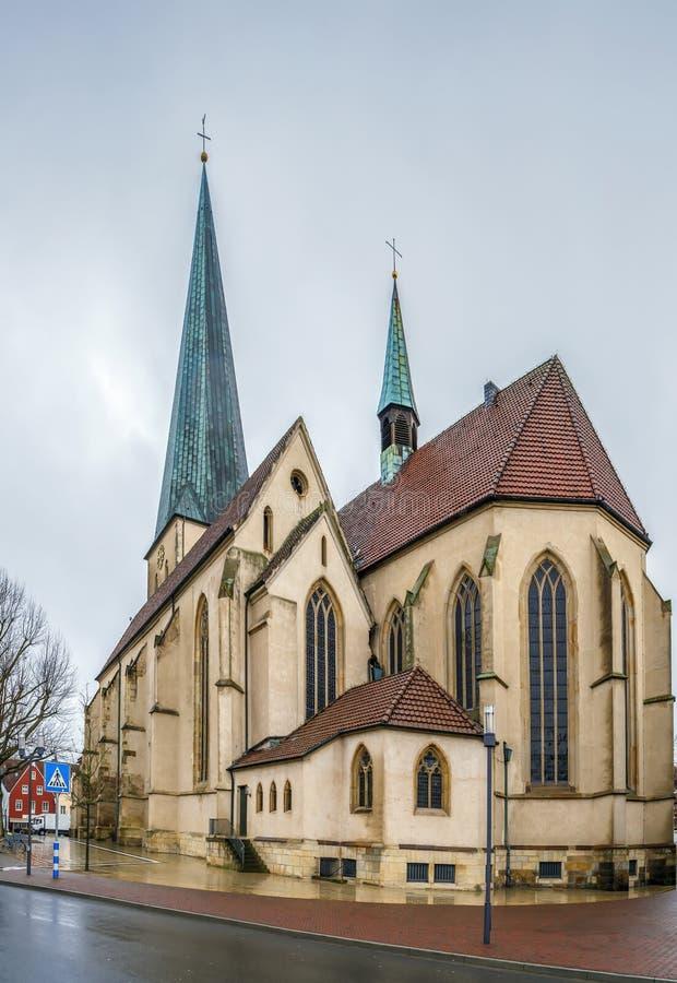 Церковь St Remigius, Borken, Германия стоковое фото rf