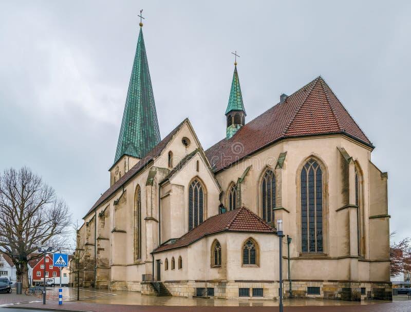 Церковь St Remigius, Borken, Германия стоковое изображение