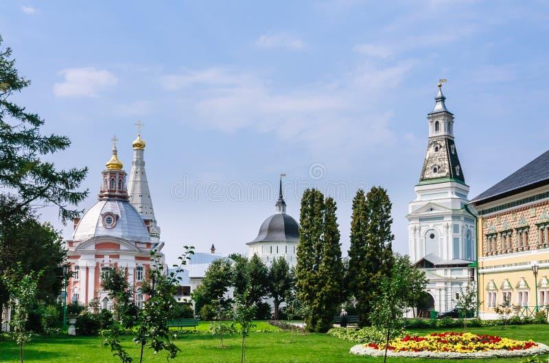Церковь St Sergius Lavra святой троицы стоковое изображение